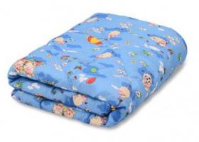 Одеяло детское синтепон 110х140 в бязи пл 200