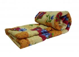 Одеяло полиэфирное 1,5сп (синтепон) в бязи
