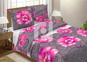 Комплект постельного белья семейный поплин Марсель