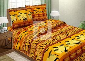 Комплект постельного белья евро поплин Сафари