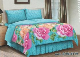 Комплект постельного белья семейный поплин Анна