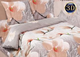 Комплект постельного белья семейный поплин Полина