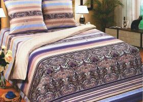 Комплект постельного белья евро поплин Соломон без молнии