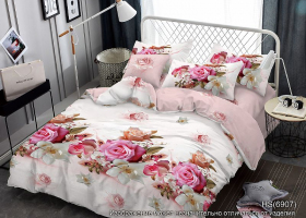 Комплект постельного белья семейный поплин Аглая