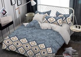Комплект постельного белья семейный поплин Арина
