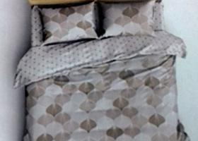 Комплект постельного белья евро поплин Калипсо бежевый