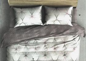 Комплект постельного белья евро поплин Моника