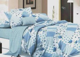 Комплект постельного белья евро поплин Парадиз