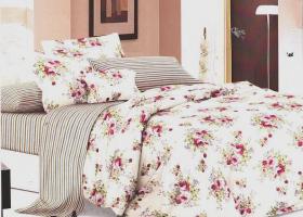 Комплект постельного белья евро поплин Флорена