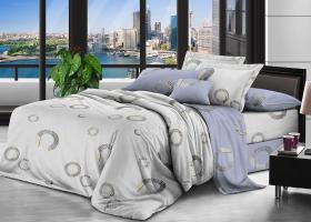 Комплект постельного белья семейный поплин Дэниз
