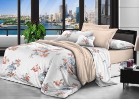 Комплект постельного белья семейный поплин Офелия
