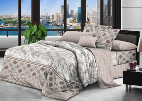 Комплект постельного белья семейный поплин Пикантный стиль