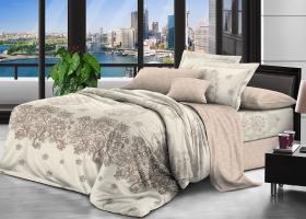 Комплект постельного белья семейный поплин Царственный цветок