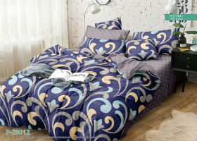 Комплект постельного белья семейный поплин Мадина