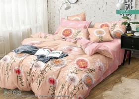 Комплект постельного белья семейный поплин Мажитель