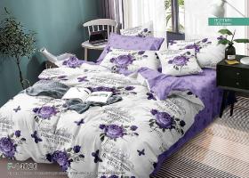 Комплект постельного белья семейный поплин Романтичные сны
