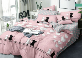 Комплект постельного белья семейный поплин 1755