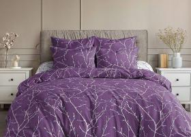 Комплект постельного белья семейный поплин Верба