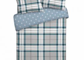 Комплект постельного белья евро поплин Ажгон