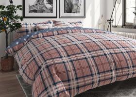 Комплект постельного белья семейный поплин Модерн