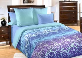 Комплект постельного белья семейный перкаль Фрея