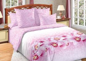 Комплект постельного белья семейный перкаль Аромат орхидей