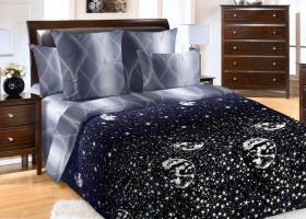 Комплект постельного белья семейный перкаль Песня звезд