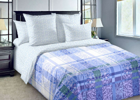 Комплект постельного белья евро перкаль Декор