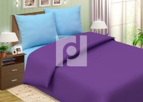 Комплект постельного белья 1,5сп поплин однотонный Черничный мусс