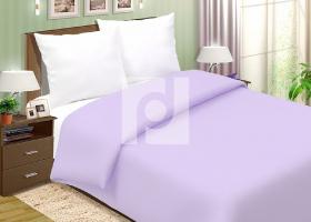Комплект постельного белья семейный поплин однотонный Горная лаванда