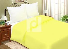Комплект постельного белья евро поплин однотонный Лимонный чизкейк