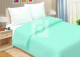 Комплект постельного белья семейный поплин однотонный Мятная свежесть