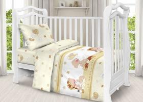 Комплект постельного белья детский поплин рис 1636 вид 1