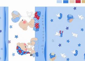 Комплект постельного белья детский поплин рис 1636 вид 2