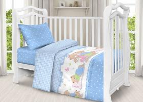 Комплект постельного белья детский поплин рис 1703 вид 1