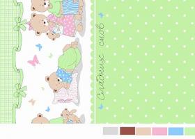Комплект постельного белья детский поплин рис 1703 вид 3