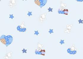 Комплект постельного белья детский поплин рис 1722 вид 2