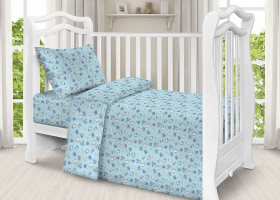 Комплект постельного белья детский поплин рис 1769 вид 6