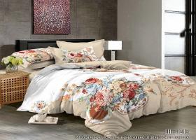 Комплект постельного белья евро сатин 3D Мелодия весны