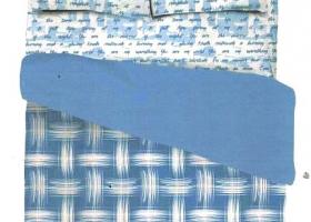 Комплект постельного белья 1,5сп сатин Марина