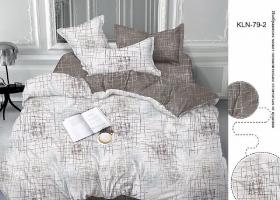 Комплект постельного белья евро сатин Трепет