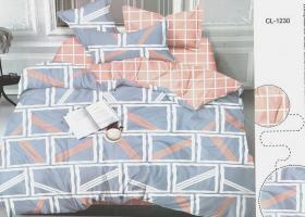 Комплект постельного белья евро сатин Дельмира