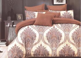 Комплект постельного белья евро сатин Леон