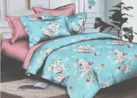 Комплект постельного белья семейный сатин Кларис