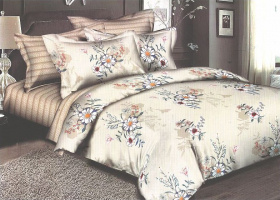 Комплект постельного белья евро сатин Сафина