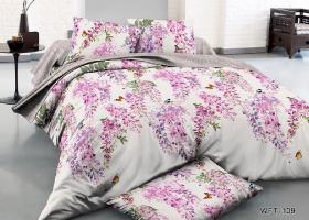 Комплект постельного белья семейный сатин Весенняя акварель