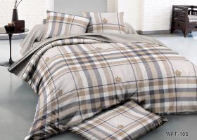 Комплект постельного белья семейный сатин Стивенс