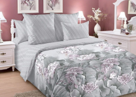 Комплект постельного белья семейный сатин Лотосы 3