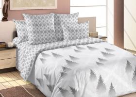 Комплект постельного белья семейный сатин Зимний сон 2