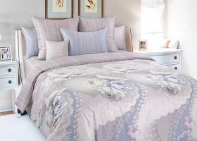 Комплект постельного белья семейный сатин История любви